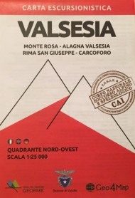 Map of Valsesia area - Monte Rosa