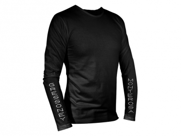 Long sleeves T-shirt man black – Gnifetti Hut