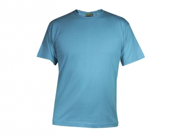 Short sleeves T-shirt man turquoise –...